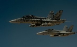 FILE PHOTO: Two U.S. Marine Corps F-18 Super Hornets depart after receiving fuel from a 908th Expeditionary Air Refueling Squadron KC-10 Extender during a flight in support of Operation Inherent Resolve May 31, 2017. U.S. Air Force/Staff Sgt. Michael Battles/Handout/File Photo via REUTERS   ATTENTION EDITORS - THIS IMAGE WAS PROVIDED BY A THIRD PARTY - Вечер Елабуги